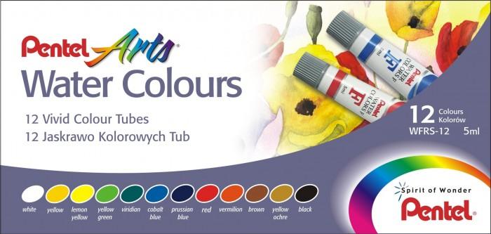 Купить Краски, Pentel Акварель Water Colours 12 цветов