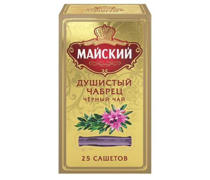 Чай Майский Чай черный Душистый Чабрец 25 пак. майский чайная матрешка синяя черный листовой чай 30 г