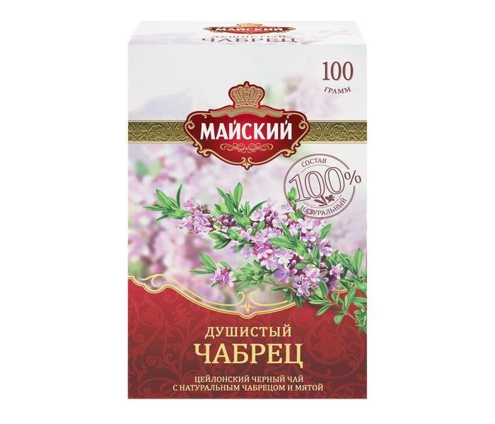 Чай Майский Чай черный Душистый Чабрец 100 г майский чайная матрешка синяя черный листовой чай 30 г