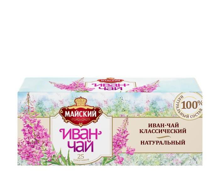 Чай Майский Чай травяной Иван-Чай классический 25 пак.