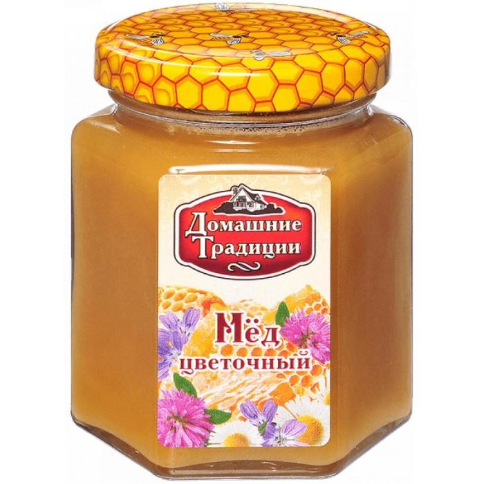 Мед, варенье, сиропы Домашие Традиции Мёд Цветочный 250 г мед дикий мед башкирский цветок цветочный 600 г