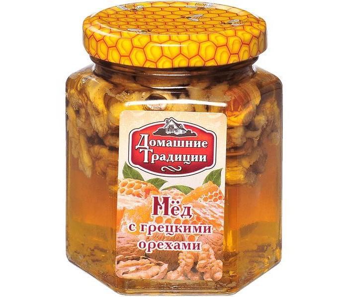 Мед, варенье, сиропы Домашие Традиции Мёд с грецким орехом 250 г