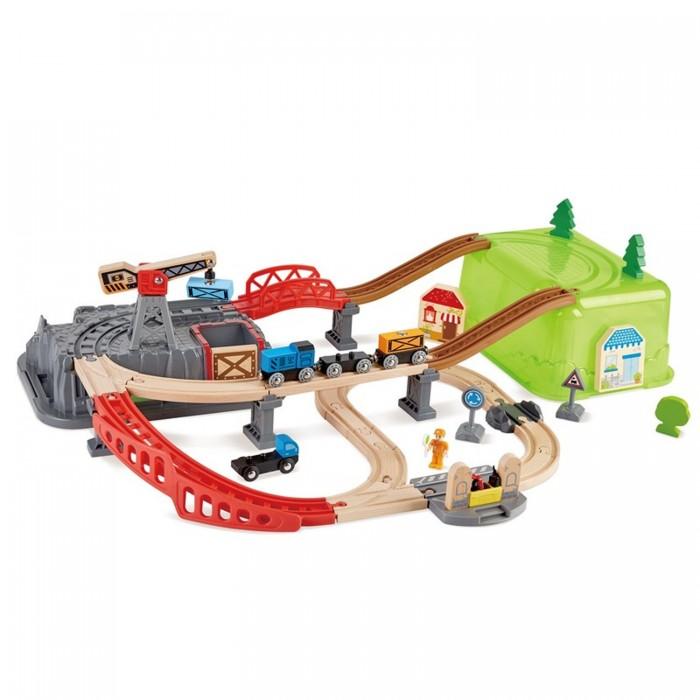 Hape Игровой набор Железная дорога Строительный комплекс от Hape