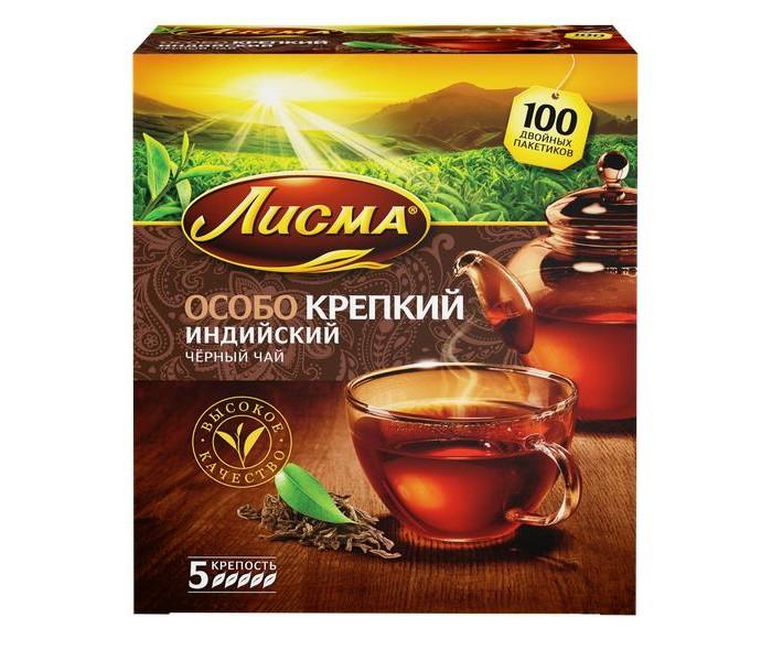 Чай Лисма Чай черный Особо крепкий Индийский 100 пак.