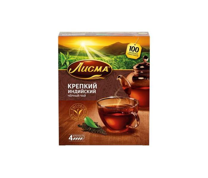 Чай Лисма Чай черный Крепкий Индийский 100 пак.