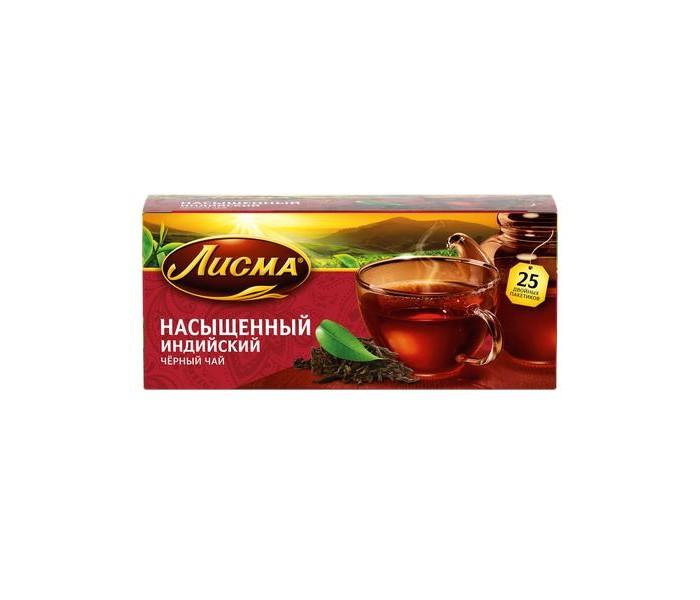 Чай Лисма Чай черный Насыщенный Индийский 25 пак. чай черный виноградное утро
