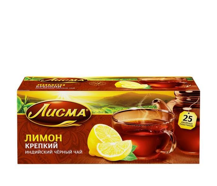 Чай Лисма Чай черный Крепкий Лимон 25 пак.