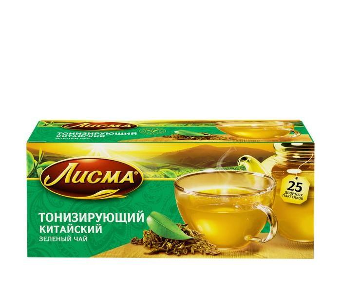 Чай Лисма Чай зелёный Тонизирующий Китайский 25 пак.