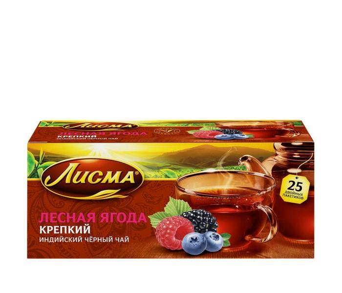 Чай Лисма Чай черный Крепкий Лесная Ягода 25 пак.