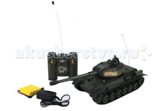 Пламенный мотор Танк р/у 1:28 T-34Танк р/у 1:28 T-34Танк на радиоуправлении Пламенный Мотор «T-34 (СССР)» понравится любому мальчишке. Ведь этот танк может ездить и им можно управлять. С таким танком можно устраивать у себя в комнате настоящие сражения!  Высокодетализированный кузов с навесным оборудованием.  Световые эффекты при стрельбе.  Реалистичные звуковые эффекты.  Визуальные эффекты: отдача при выстреле.  Преодолевает подъемы под углом 45°.  Движение: вперед, назад, вправо, влево, круговое вращение на месте.  Поворот башни вправо, влево на 320 градусов.  Скорость: 6 км/ч.  Демо-режим. Автооключение.  Технические характеристики: радиус действия пульта - 12 м; время работы - 15-20 мин; время зарядки - 4 часа.<br>