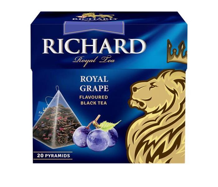 Чай Richard черный Royal Grape 20 пак.