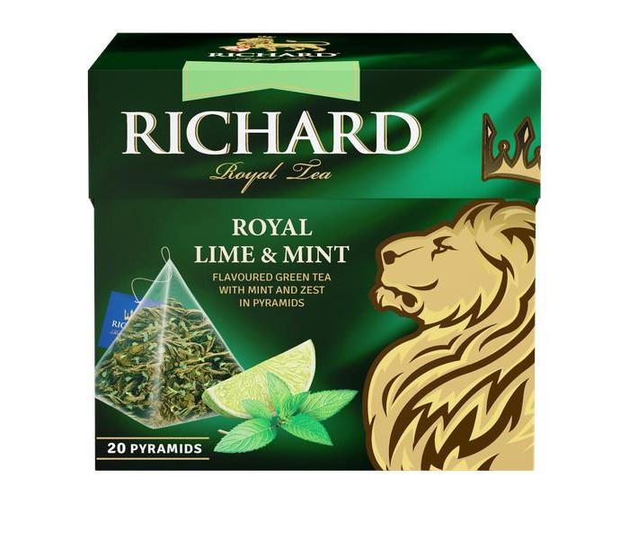 Чай Richard Чай зелёный Royal Lime Mint 20 пак.