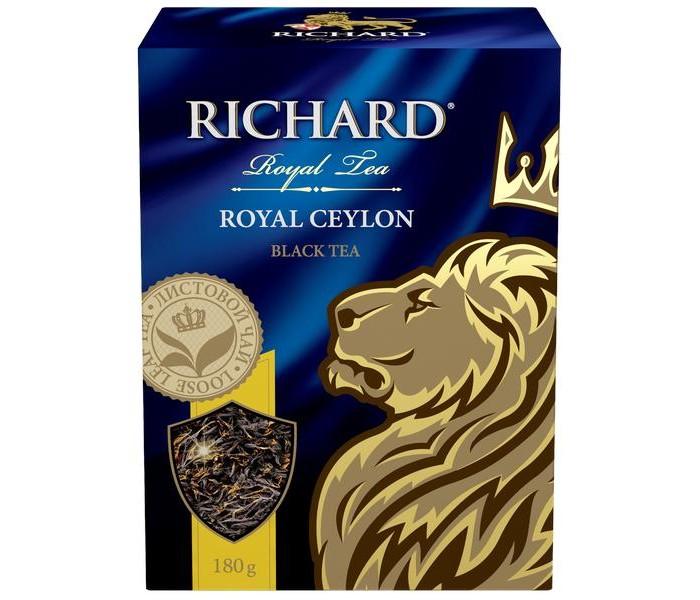 Чай Richard Чай черный Royal Ceylon 180 г чай черный tess ceylon 100 г