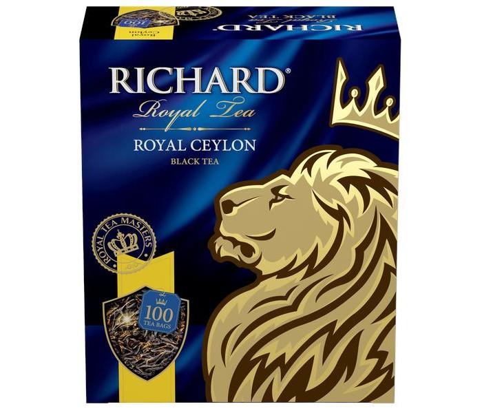 Чай Richard Чай черный Royal Ceylon 100 пак. чай черный tess ceylon 100 г