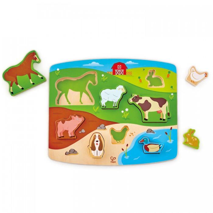 Деревянная игрушка Hape Вкладыши Животные
