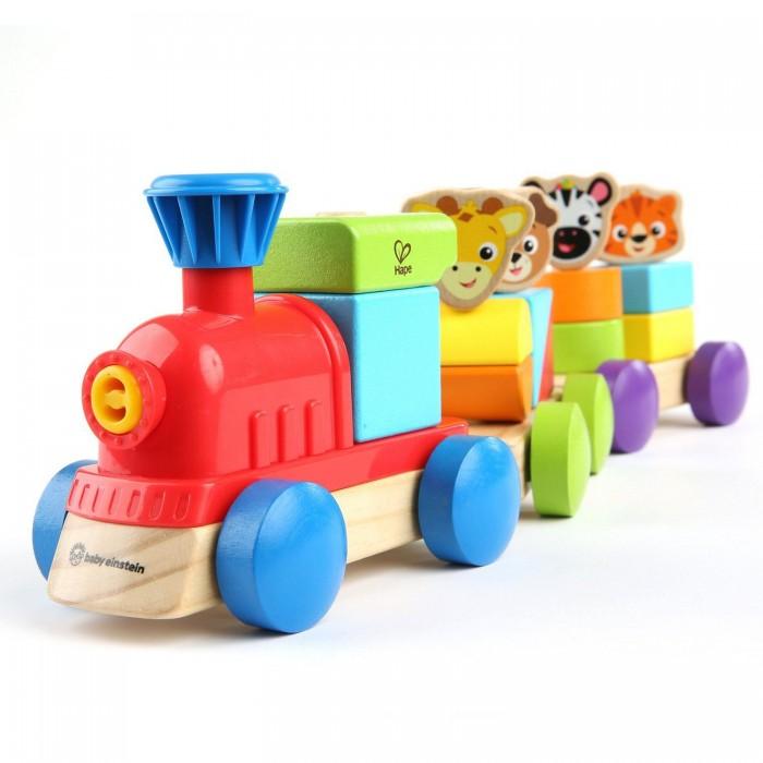 Фото - Деревянные игрушки Hape Поезд приключений деревянные игрушки hape погремушка радуга