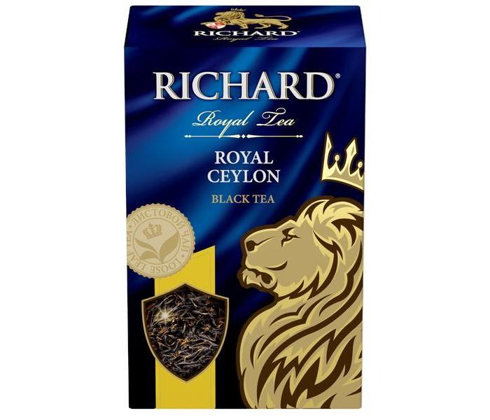 Чай Richard Чай черный Royal Ceylon 90 г чай черный tess ceylon 100 г