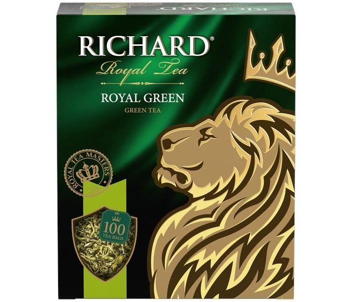 Чай Richard зелёный Royal Green 100 пак.