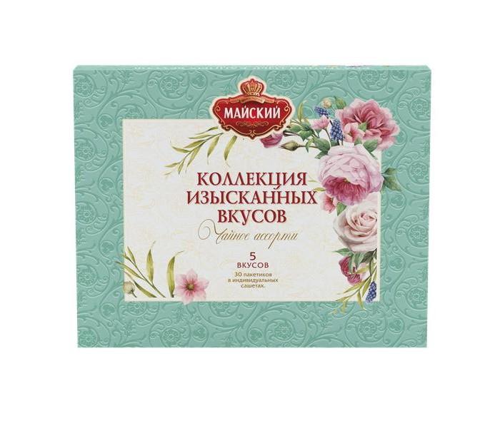 Чай Майский Чай ассорти Коллекция Изысканных вкусов 30 пак. tess коллекция 9 вкусов листового чая в пирамидках 45 шт