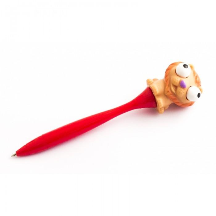 Канцелярия Эврика Ручка Лупоглазик Лев канцелярия lejoys ручка шариковая с колпачком в корпусе из бамбука черная 13 5 см