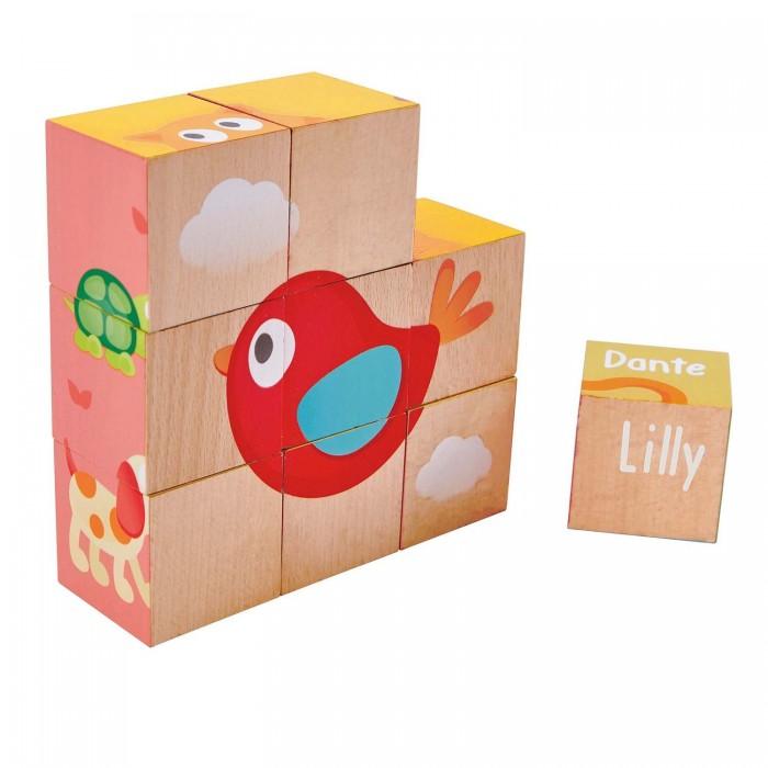 Купить Деревянные игрушки, Деревянная игрушка Hape Кубики Лили (9 элементов)