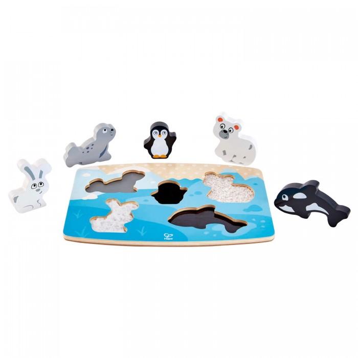 Деревянные игрушки Hape Тактильная головоломка Арктические животные арктические проекты