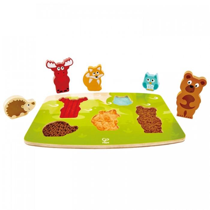 Деревянные игрушки Hape Тактильная головоломка Лесные животные