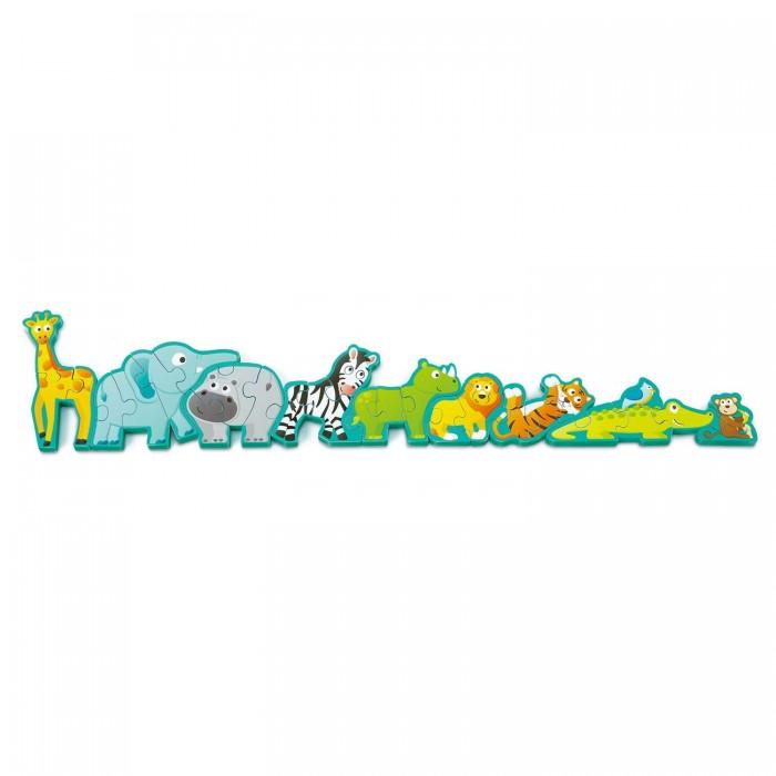 Деревянная игрушка Hape Пазл Алфавит парад животных