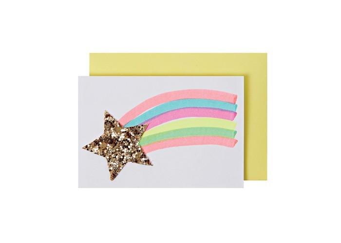 Товары для праздника MeriMeri Открытка Падающая звезда открытка книги