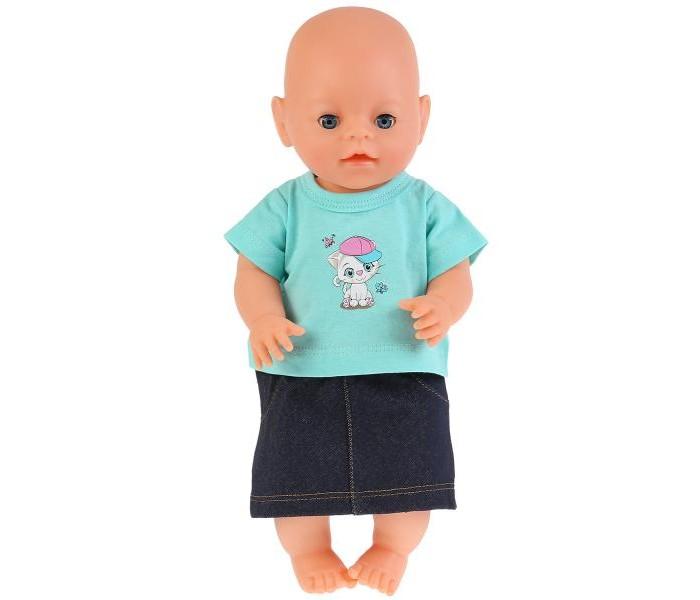 Купить Куклы и одежда для кукол, Карапуз Одежда для кукол Комплект Котенок в кепке 40-42 см