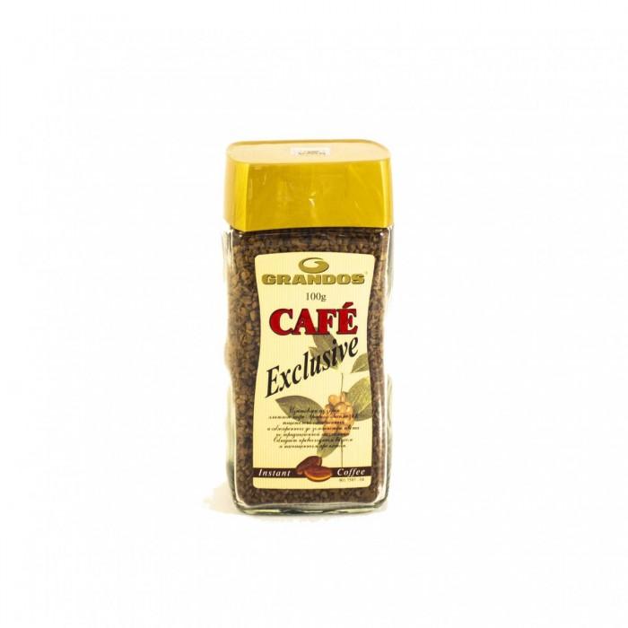 Кофе Grandos Кофе растворимый сублимированный Exclusive 100 г clipper кофе растворимый арабика органик сублимированный 100 г