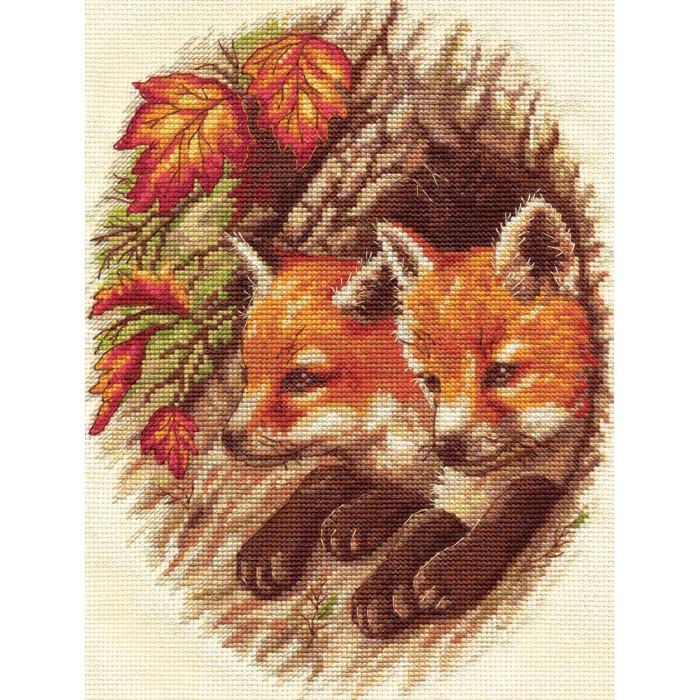 Наборы для вышивания Klart Набор для вышивания Лисята