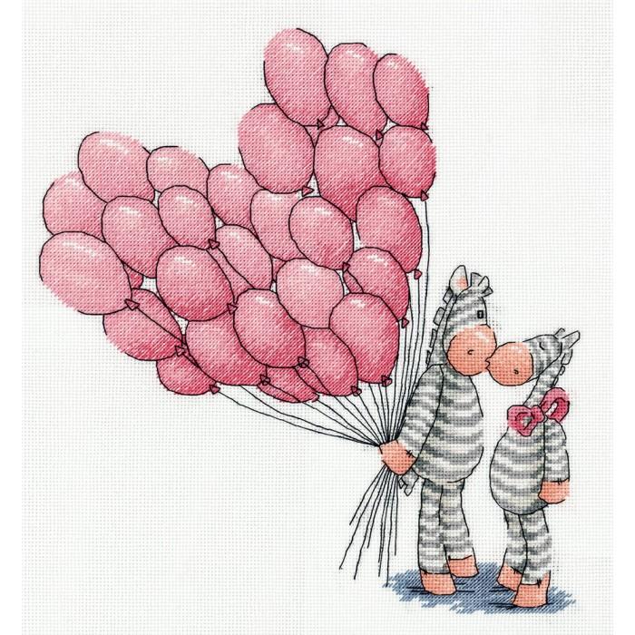 Наборы для вышивания Klart Набор для вышивания Воздушный поцелуй