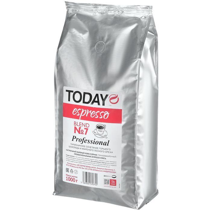 Кофе Today Кофе в зернах Espresso Blend №7 1000 г кофе индийский молотый espresso blend hindica 200 г