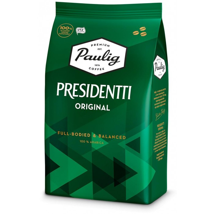 Paulig Кофе Presidentti Original зерно 1 кг