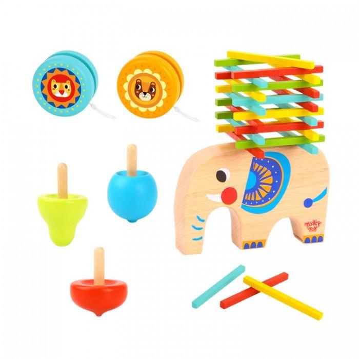 Деревянная игрушка Tooky Toy Пазл Формы и дроби