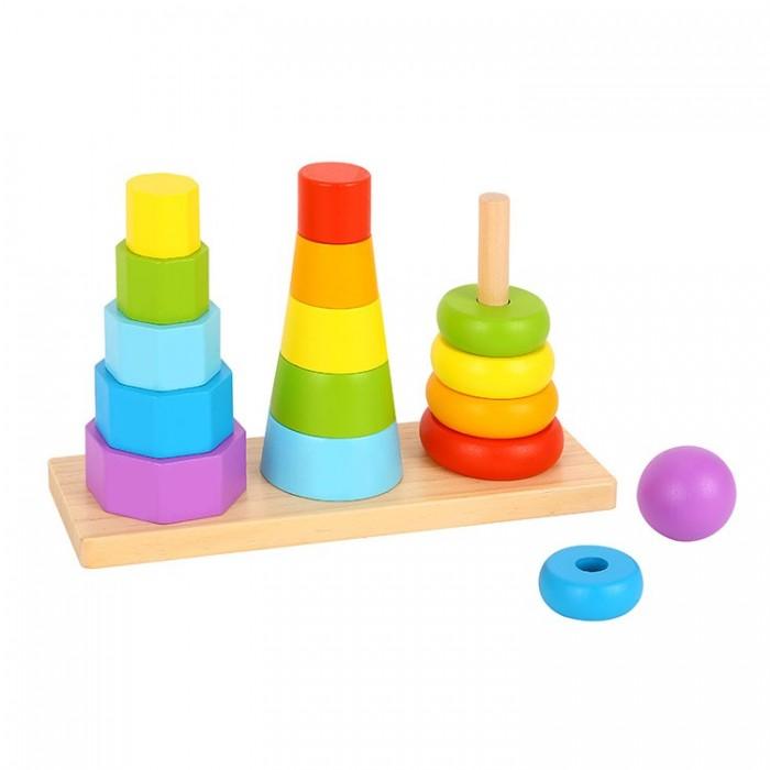 Деревянная игрушка Tooky Toy Разноцветные фигуры