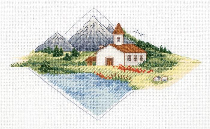 Наборы для вышивания Klart Набор для вышивания Дом в горах klart набор для вышивания klart носочек с оленем