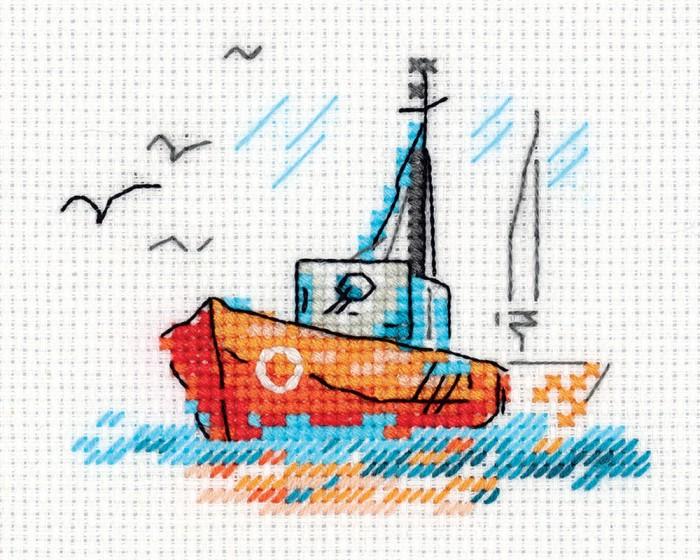 Наборы для вышивания Klart Набор для вышивания Зарисовки. На волнах