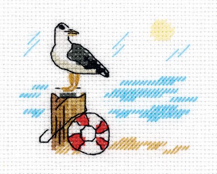 Наборы для вышивания Klart Набор для вышивания Зарисовки. Чайка