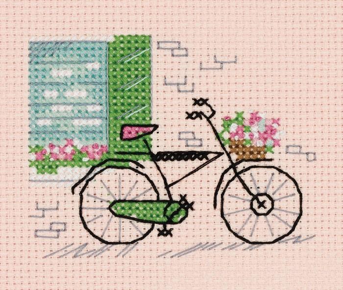Наборы для вышивания Klart Набор для вышивания Зарисовки. Велосипед