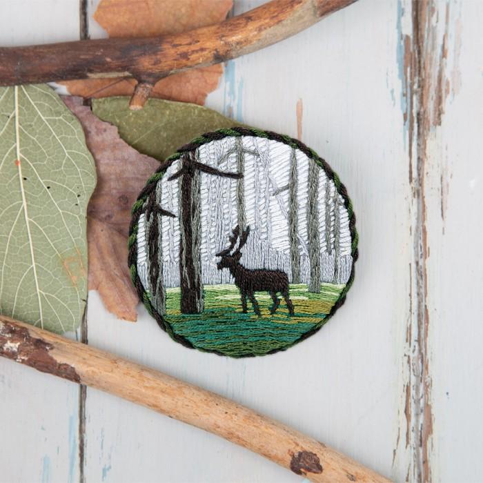 Наборы для вышивания Panna Набор для вышивания Брошь. Лесной олень набор для вышивания panna ц 0518 красный георгин