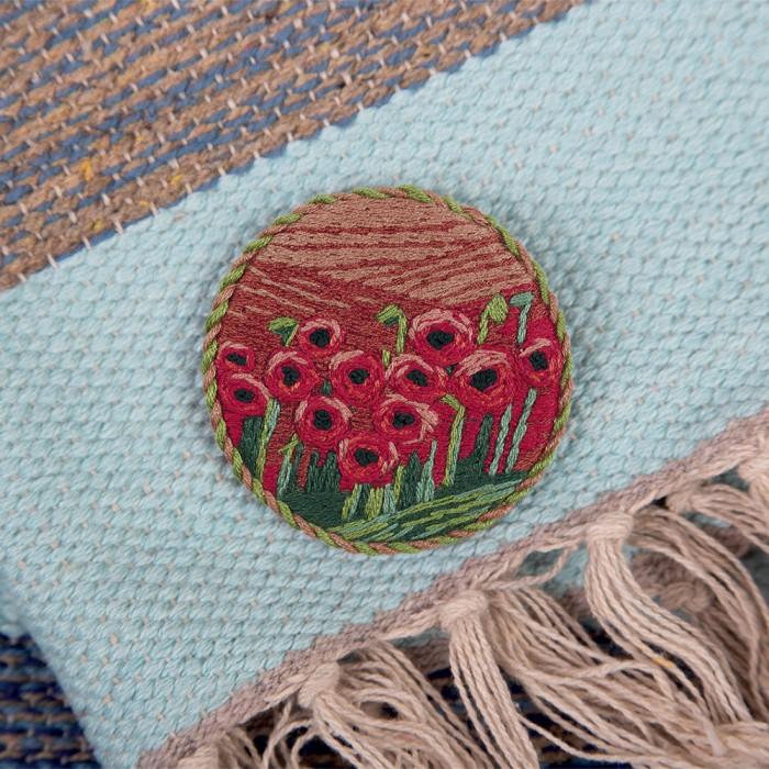 Наборы для вышивания Panna Набор для вышивания Брошь. Маковое поле набор для вышивания panna ц 0518 красный георгин