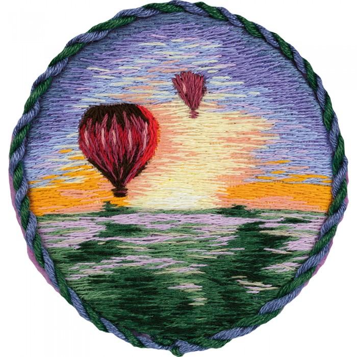 Фото - Наборы для вышивания Panna Набор для вышивания Брошь. Воздушные шары набор для вышивания panna ps 1615 осенний венок