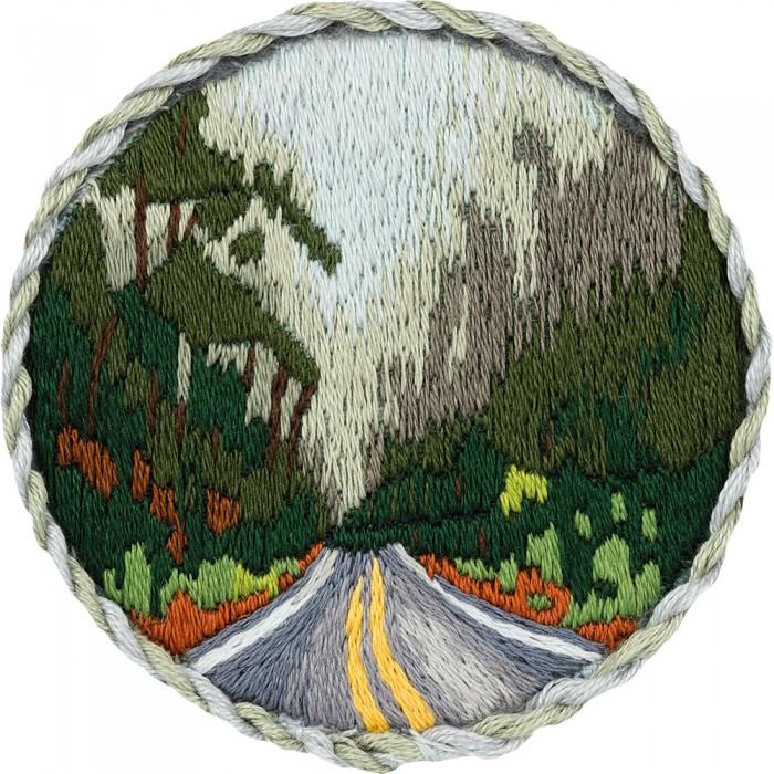 Наборы для вышивания Panna Набор для вышивания Брошь. Дорога в лесу набор для вышивания panna ц 0518 красный георгин