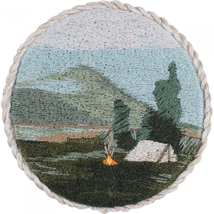 Фото - Наборы для вышивания Panna Набор для вышивания Брошь. Вечерний костер набор для вышивания panna ps 1615 осенний венок
