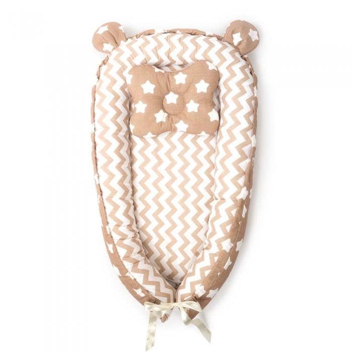 Золотой Гусь Подушка-валик кокон Шоколадка