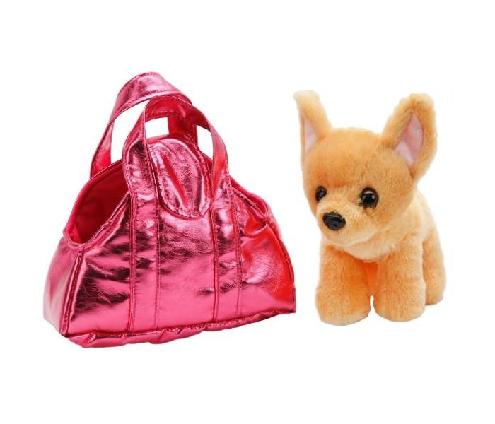Купить Мягкие игрушки, Мягкая игрушка Мой питомец Собака в сумочке чихуахуа 18 см CT151529-19AC