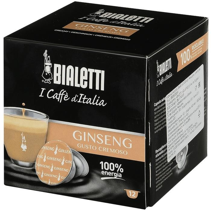 Bialetti Кофе Ginseng капсулы для кофемашин 12 шт.