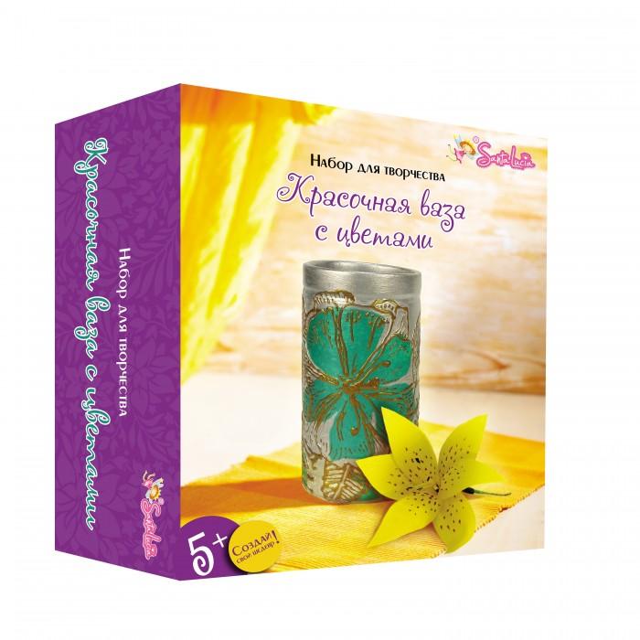 Наборы для творчества Санта Лючия Набор для творчества Красочная ваза с цветами бронзовые акриловые типсы с цветами и кристаллами bronze beauty